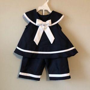 Rare Editions Sailor Set - Size 6-9 months
